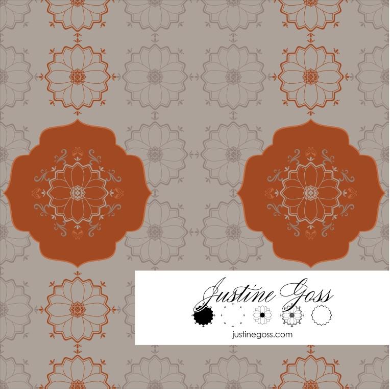 Marrakesch Nat Flower Orange